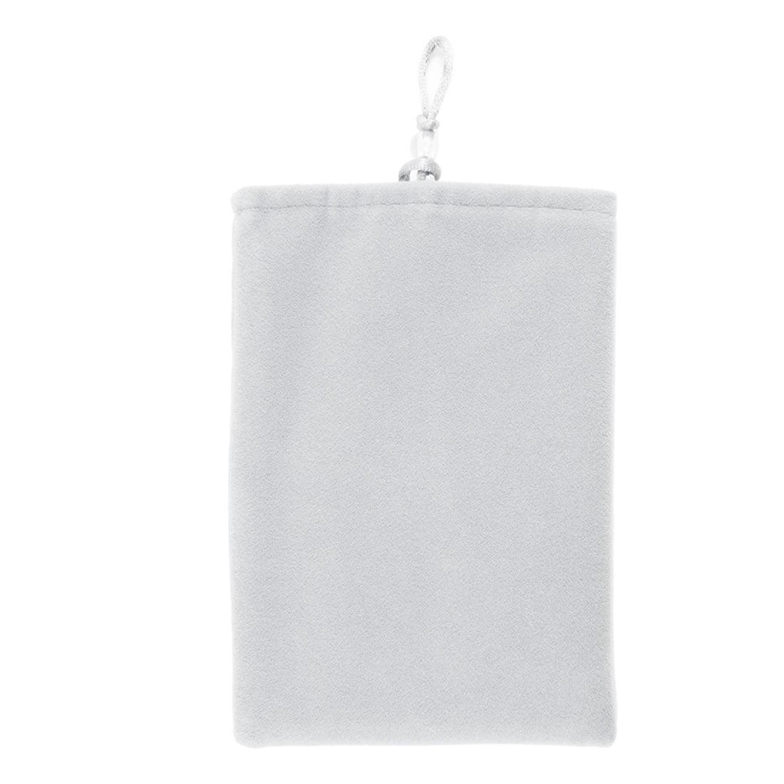 Unique Bargains Portable Light Gray Velvet Pouch Sleeve Bag Case 5 Inch for Mobile Phone MP4 MP5