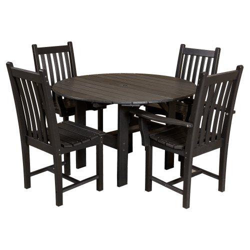 Little Cottage Classic Recycled Plastic 5 Piece Round Patio Dining Set
