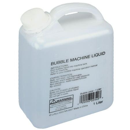 Loftus Aromatic Bubble Juice Refill 1 Liter Machine Liquid, Clear (Bubble Machine Liquid)