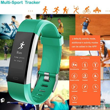 Fitness Tracker, Activity Trackers Health Exercise Watch with Heart Rate Monitor and Sleep Monitor, Smart Band Calorie Counter, Step Counter, Pedometer Walking for Kids Girls and Boys - image 9 of 9