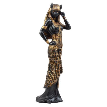 Ebros Gift Egyptian Goddess Bastet Cat in Sensual Human Form Figurine 10.75