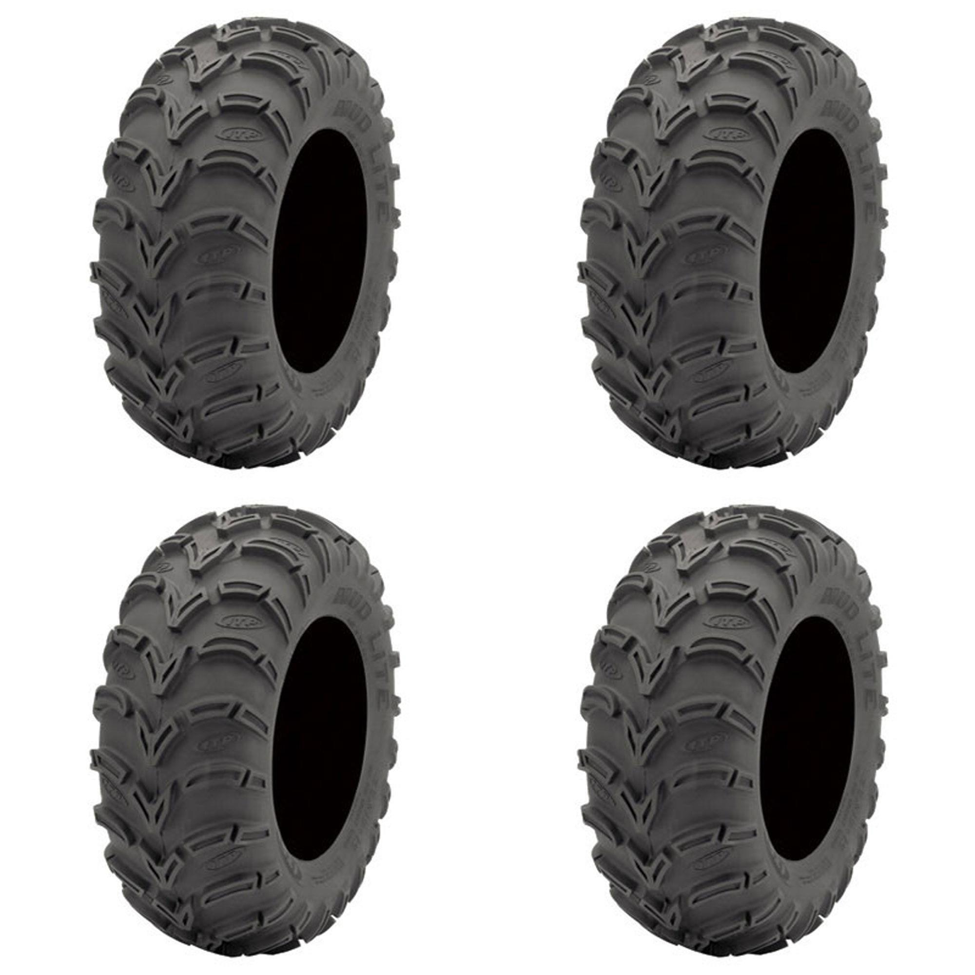 Set of 4 ATV ITP Tires (Mud Lite AT 24x9-11 Front/Rear)