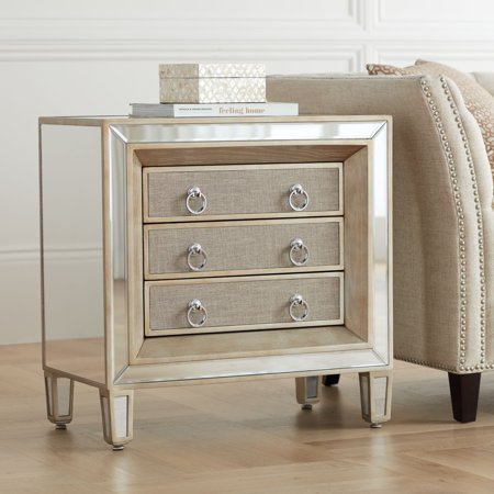 55 Downing Street Mira 28 Wide 3 Drawer Mirrored Accent Table