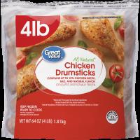 Great Value Chicken Drumsticks, 4 lb. (Frozen)