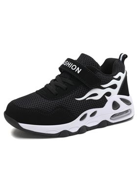 Sports Shoes for Boys and Girls Air Cushion Heel Knit Upper Breathable All Season Kids Sneaker