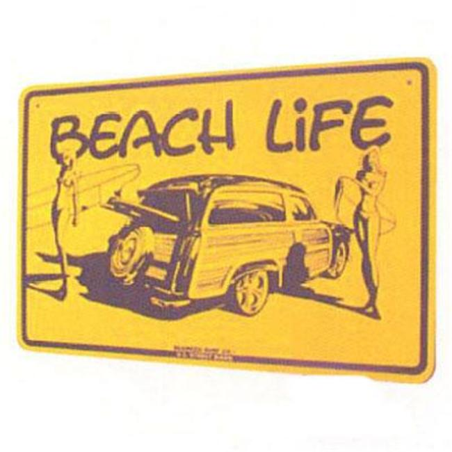 Seaweed Surf Co SF26 12X18 Aluminum Sign Beach Life