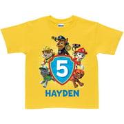 Personalized PAW Patrol Pawesome Birthday Yellow Boys' T-Shirt
