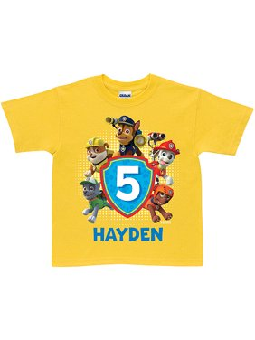 Personalized PAW Patrol Pawesome Birthday Yellow Boys' T-Shirt