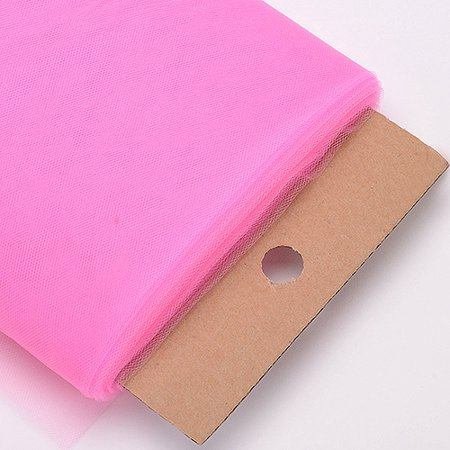 Hot Pink - 54 Inch Premium Tulle Fabric Bolt ( W: 54 inch | L: 40 Yards ) - Hot Pink Fabric
