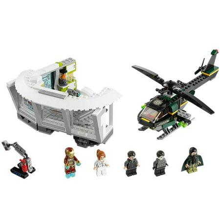 LEGO® Marvel Super Heroes® Iron Man Malibu Mansion Attack w/ Minifigures | 76007 (Lego Minifigure Super)