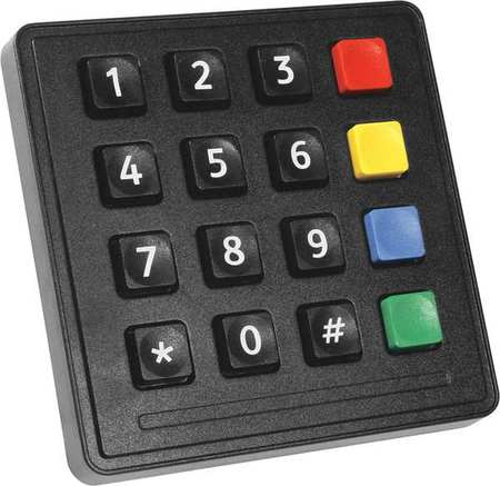 Industrial Black Keypad, Storm Interface, 720 BLK 16 KEY