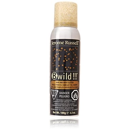 Jerome Russell B Wild Glitter Body & Hair Spray, Gold, 3.5 Oz](Spray Hair Glitter)