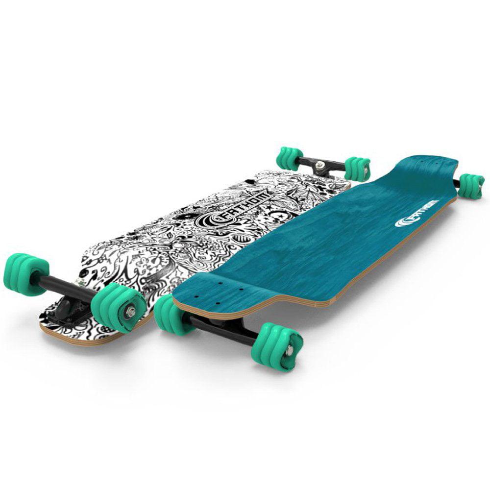 Fathom by Shark Wheel Long Drop Daydreamer Longboard Skateboard Complete, Teal by Fathom by Shark Wheel