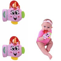 Yummy Mitt Isabella the Unicorn Teething Mitten Bundle- PINK (2 Mittens Included) 3-8 months