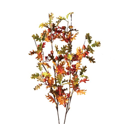 "39"" Oak Leaf and Acorn Lighted Branches"