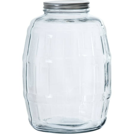 Anchor Hocking Glass Half Gallon Barrel Jar