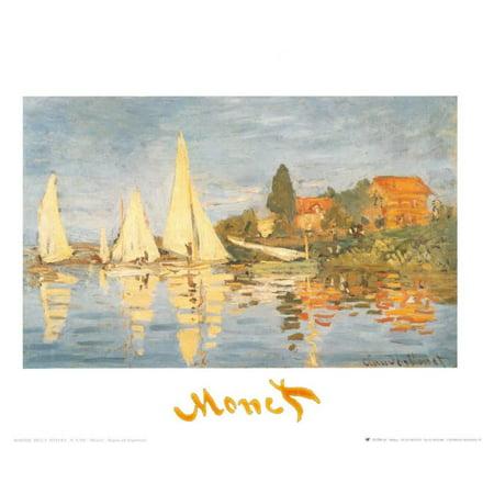 Monet Regatta At Argenteuil (Regatta at Argenteuil Art Print  By Claude Monet )
