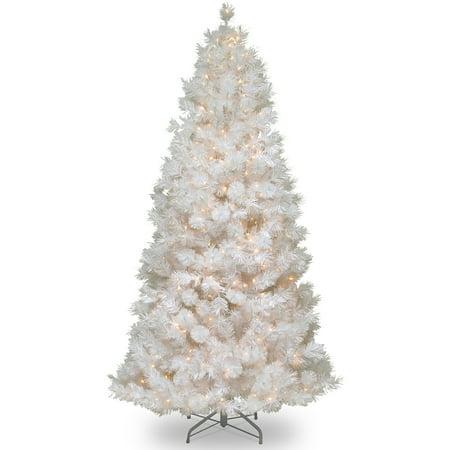 National Tree Pre-Lit 7-1/2' Wispy Willow Grande White Slim Hinged ...