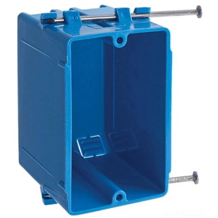 B118AR-UPC Carlon Single Gang Box With Nail, Designed for use with nonmetallic sheathed cable in accordance with Article 370 of the 1990 National Electrical Code By -