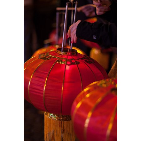 Framed Art For Your Wall Red China Asia Decoration Lantern New Year's Eve 10x13 - Asian Decorations
