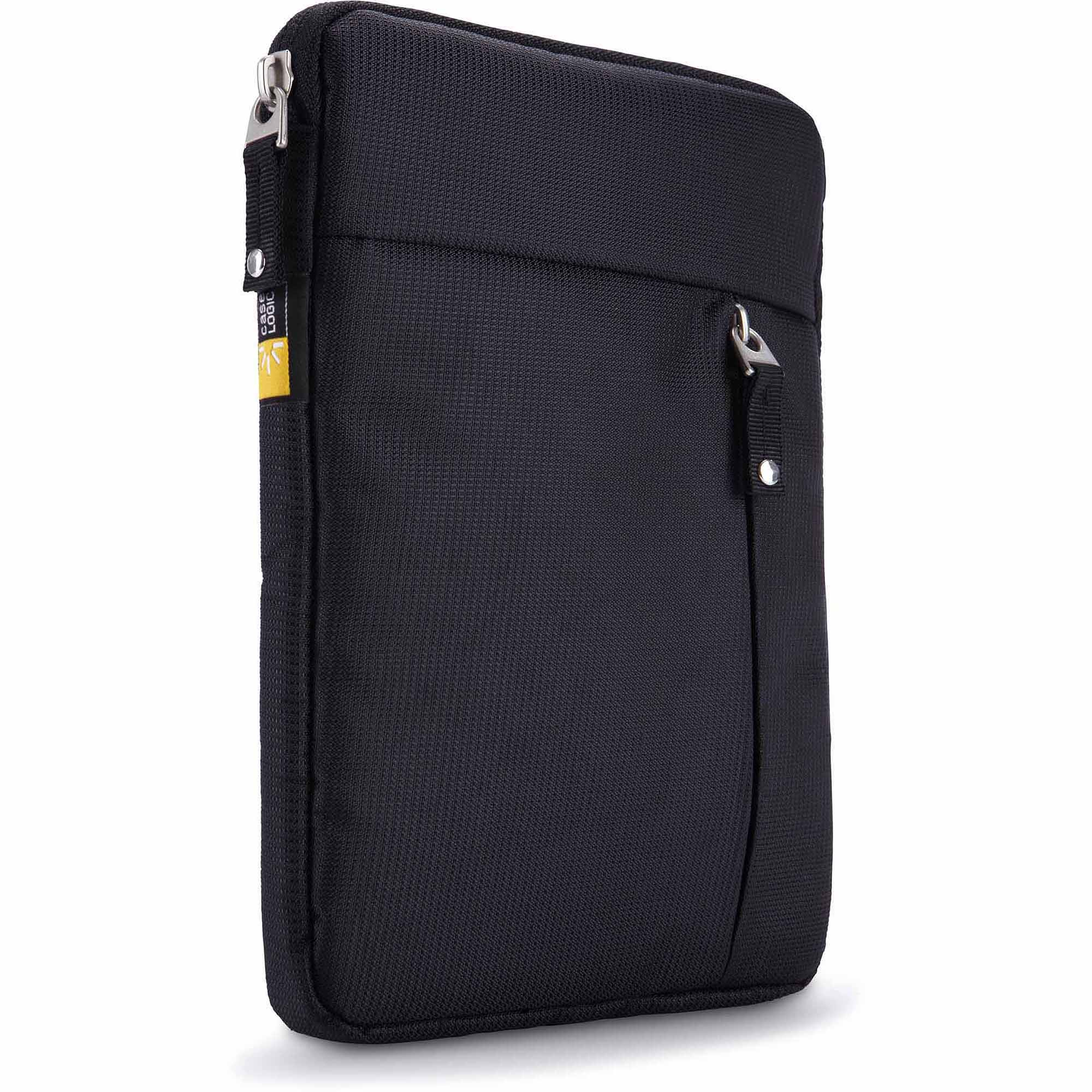 """Case Logic TS-108 Tablet Sleeve with Accessory Pocket for 8"""" Tablet PC, Black"""