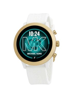 Michael Kors - Access MKGO Smartwatch 43mm Aluminum - White with White Silicone Band