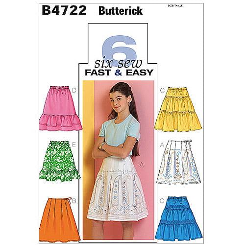 Butterick Pattern Girls' Skirt, CS (12, 14, 16)