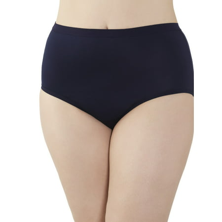 Fit for Me by Fruit of the Loom Women's Plus Microfiber Brief Panties - 5 Pack