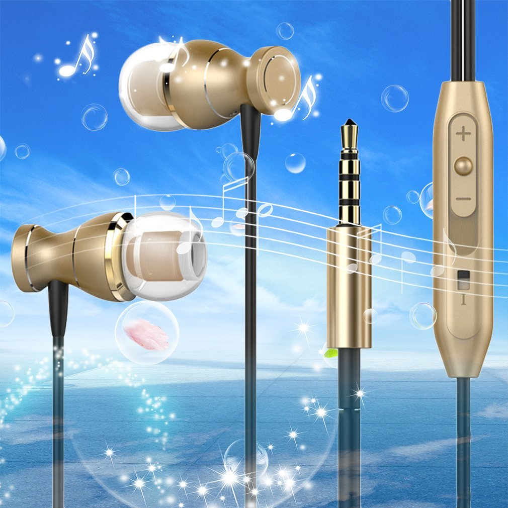 Professional Magnetic Design 3D Stereo Surround Sound Earphones High Sensitivity Noise Isolation Earphone For Iphone