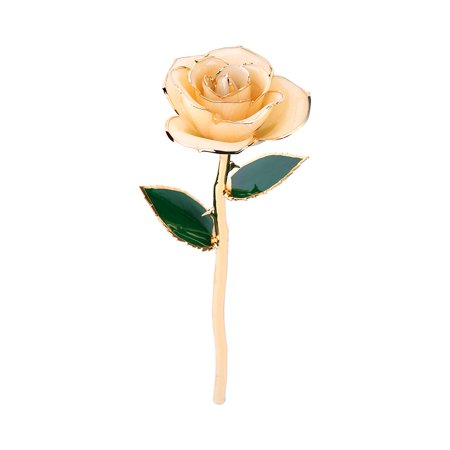 Greensen Love Forever Long Stem Dipped 24k Gold Rose Foil Trim Wonderful Gifts for Mother's Day, Thanksgiving, Christmas, Valentine's Day, Birthdays, Graduations,Anniversaries,Gold Dipped Rose Flowers - image 3 of 6