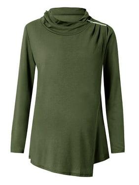 Jchiup Women's Nursing Sweatshirts Long Sleeve Layer Breastfeeding Tunic Tops