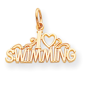 10k Swimming Charm 10C156 by Core Gold