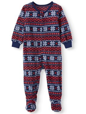 Jolly Jammies Baby Boy or Girl Unisex Matching Family Christmas Pajamas Microfleece Blanket Sleeper