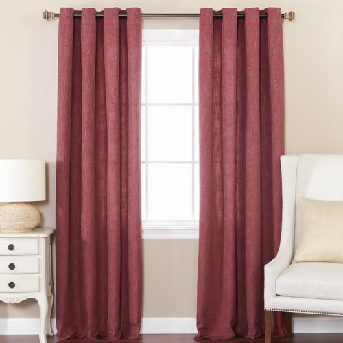 Best Home Fashion, Inc. Solid Semi-Sheer Grommet Curtain Panels (Set of 2)