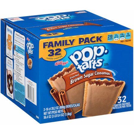 Kelloggs Pop Tarts Frosted Brown Sugar Cinnamon Toaster Pastries Family Pack  32 Count  56 4 Oz