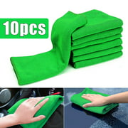 10/20Pcs Soft Cleaning Cloths Housekeeping Green Micro Fiber Wipes Car Care Detailing Auto Duster Towel 12'' x 12''
