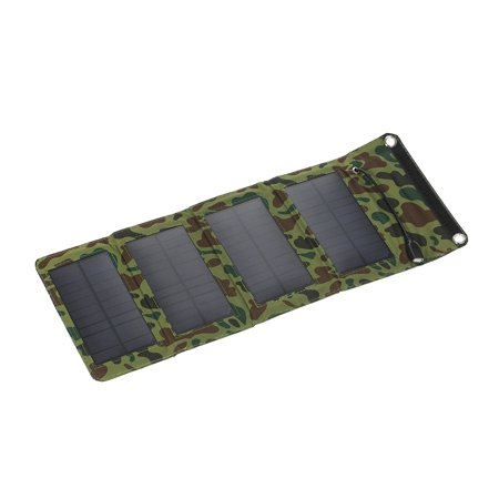 7W 5V Outdoor Foldable Monocrystalline Silicon Solar Panel Charger Portable USB Charger for Mobile Phone Power
