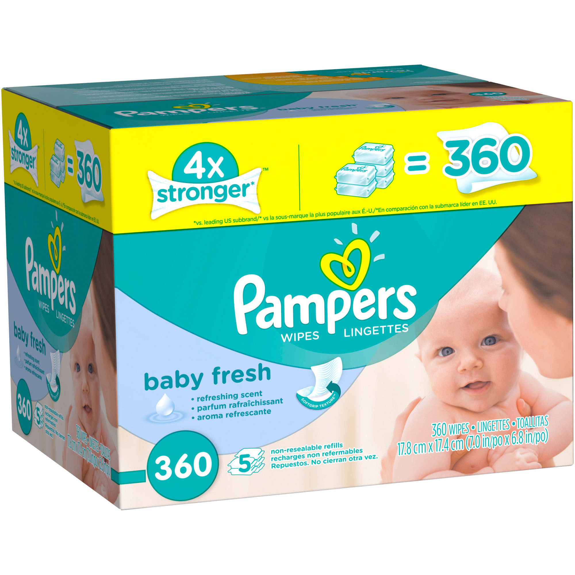 Pampers Baby Fresh Baby Wipes, 360 sheets