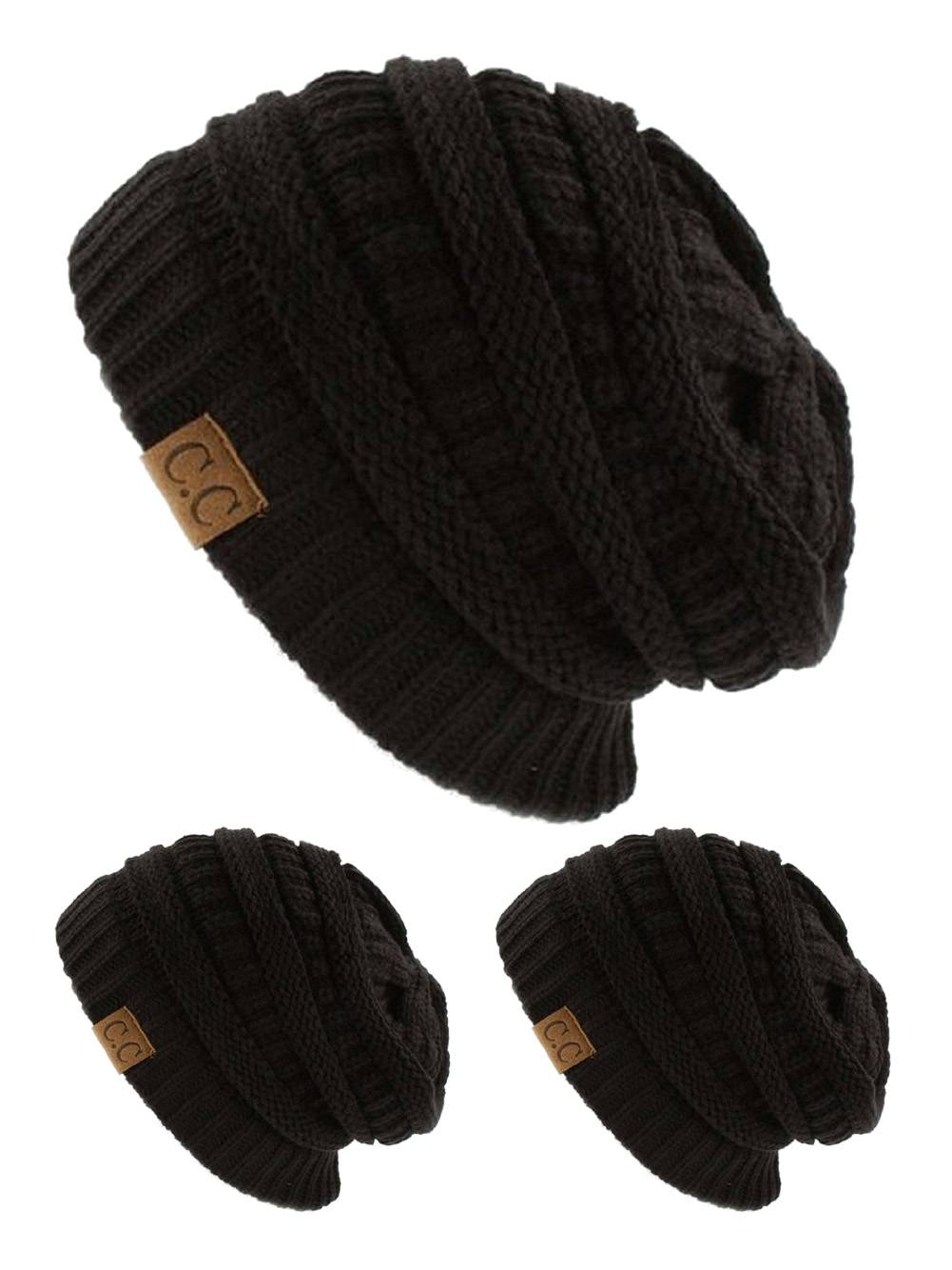CC Slouch Thick Knit Beanie 04d48849e09