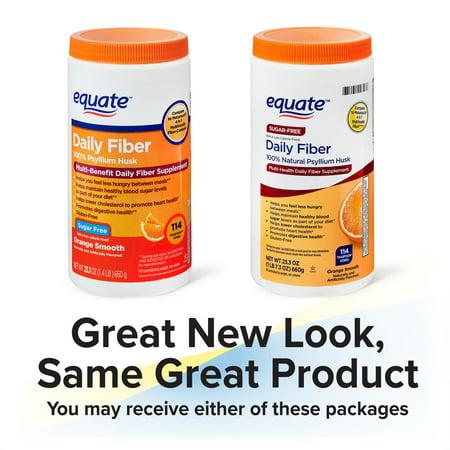 Equate Daily Fiber Orange Smooth Fiber Powder, 23.3