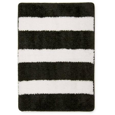 Mainstays True Color Rich Black Memory Foam Bath Rug, 1 Each ()