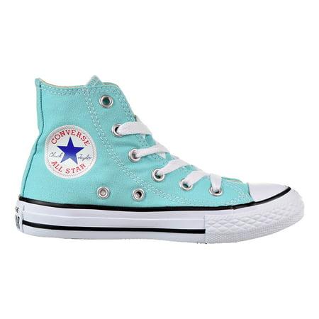 Aqua Chuck Taylors (Converse Chuck Taylor All Star Hi Little Kid's Shoes Light Aqua/White)