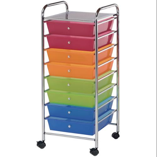 "Storage Cart W/8 Drawers 16.25""X14.5""X39.75""-Multi"