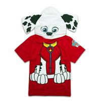 Nickelodeon Paw Patrol Boys Hooded Shirt Paw Patrol Costume Tee - Chase, Marshall, Ryder Skye
