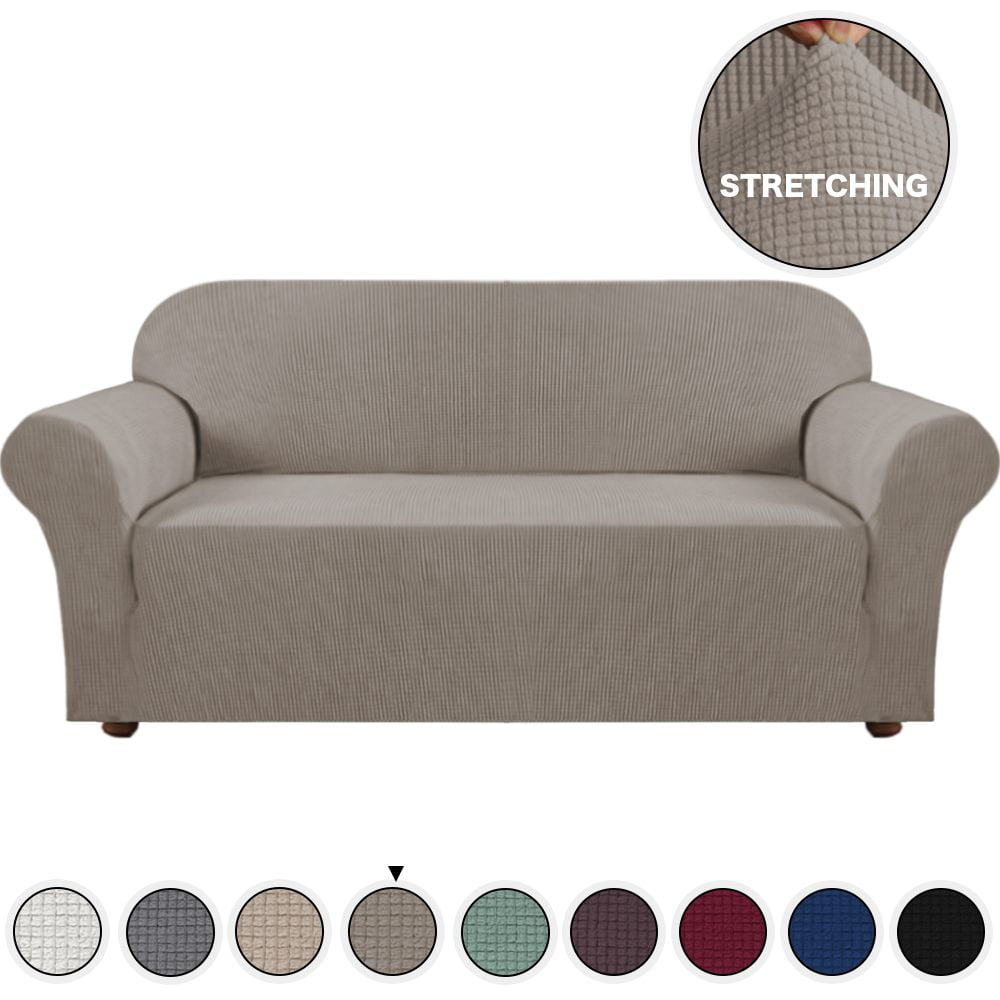 Brilliant Grey Sofa Slipcover Stretch High Spandex Sofa Cover Lounge Covers Couch Covers Furniture Covers For 3 Seater Cushion Cover Stretch 1 Piece With Ncnpc Chair Design For Home Ncnpcorg