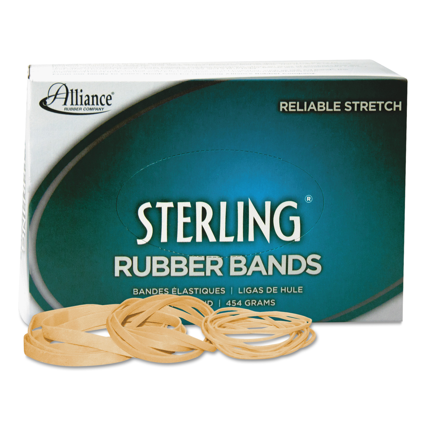 Alliance Sterling Rubber Bands Rubber Band, 31, 2 1/2 x 1/8, 1200 Bands/1lb Box -ALL24315
