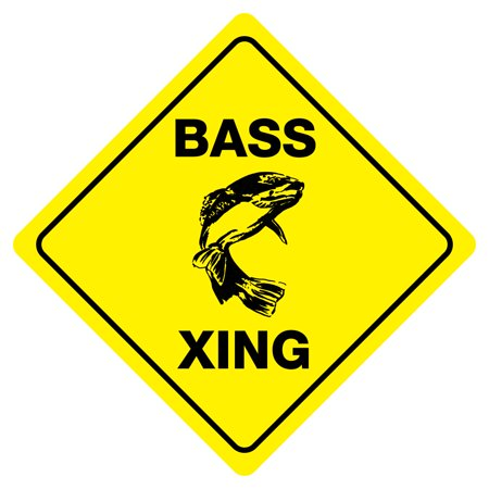 BASS CROSSING Funny Novelty Crossing Sign](Cheap Novelty)