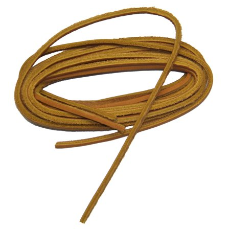 122 Natural (48 Inch 122 cm Natural Tan light brown leather Boot Boat shoelaces - (2 Pair Pack) )