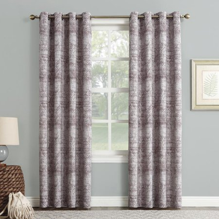 Sun Zero Darren Distressed Global Blackout Lined Grommet Curtain Panel