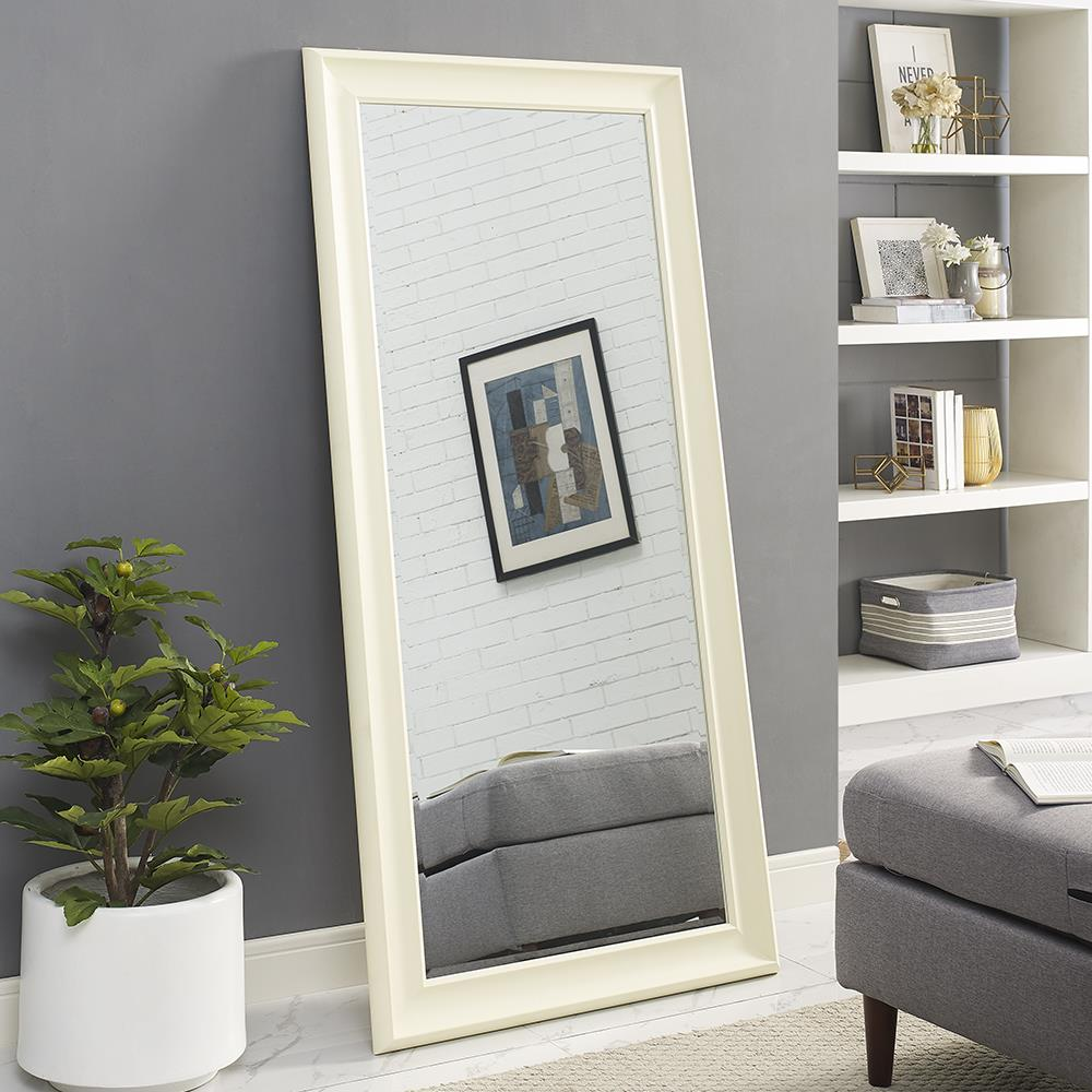 "Naomi Home Framed Mirror-Color:Cream,Size:65"" x 31"""